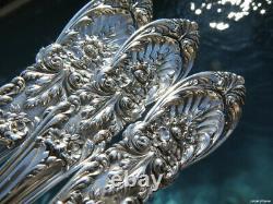 3 Rare Sterling Silver Servers Berry Set International Richelieu Flatware Spoon