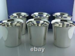 6 Sterling INTERNATIONAL Mint Julep Cups no mono mint cond