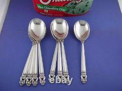 8 Sterling INTERNATIONAL Ice Cream Spoons ROYAL DANISH no mono