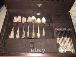 8 Sterling silver teaspoons Rhapsody by International