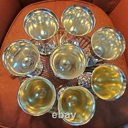 8 water goblets LORD SAYBROOK by International 6.625 in sterling silver NO mono