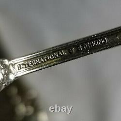 Antique International Sterling Silver Wild Rose 43 Pc 8 Place Set + 11 Serving