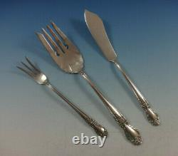 Brocade by International Sterling Silver Flatware Set For 8 Service 48 Pieces