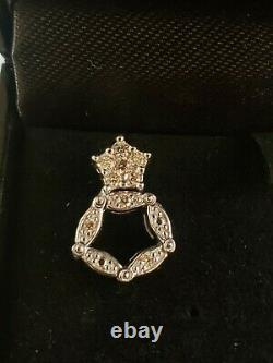 Convertible Sterling Silver Diamond Earrings Unique Diamonds International