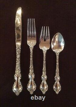 DU BARRY, International Silver Co. STERLING SILVER Flatware, 32 Piece Set for 8