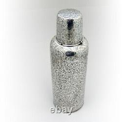 Engraved Floral Scroll Thermos Cup Cap International Sterling Silver