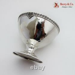 Greek Key Border Pedestal Bowl International Sterling Silver 1920