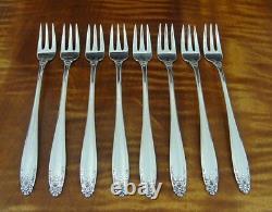 INTERNATIONAL Prelude Set of 8 Cocktail Forks 5 1/2 Sterling Silver No Monogram