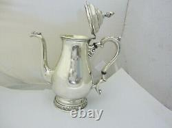 INTERNATIONAL STERLING 5-PIECE TEA SET With WASTE BOWL (PRELUDE) 2,366 GRAMS