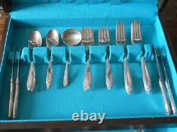 INTERNATIONAL STERLING PRELUDE FLATWARE SET FOR EIGHT with Chest