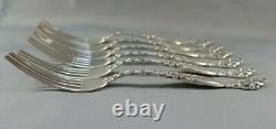 INTERNATIONAL Sterling FRONTENAC 7 1/8 inch LUNCHEON / PLACE FORKS SET OF 6