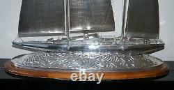Important Museum Quality Huge Tiffany & Co Solid Sterling Silver Sailing Yacht