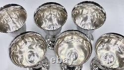 International LORD SAYBROOK Sterling Silver Goblet P664 6 Pieces