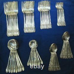 International Riviera 11pc Sterling Silverware Service for 8 with Serving 109pcs