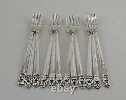 International Royal Danish Sterling Silver Cocktail Forks 5 5/8 Set of 12