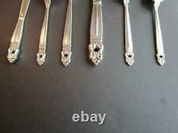 International Royal Danish Sterling Silver Flatware True Dinner Set 6p-excl