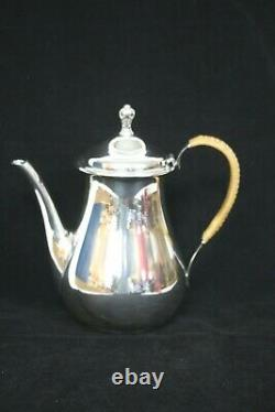 International Silver Co. Sterling Silver Teapot with Wicker Detailing Holds 8 cups
