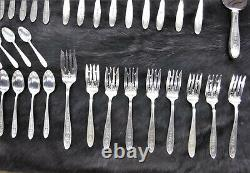 International Silver Wedgwood Sterling Silver Service for 8 56 Pieces Look