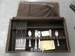 International Sterling Brocade 34 Pc. Silverware Set with Gorham case
