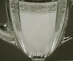 International Sterling Coffee Pot c1925 HAND DECORATED