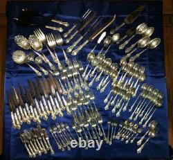 International Sterling Joan of Arc Silver Flatware Set 123 Pieces No Monogram