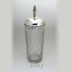 International Sterling Silver And Glass Royal Danish Cocktail Shaker 1939