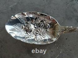 International Sterling Silver Chased Serving Spoon in Frontenac pattern c. 1903