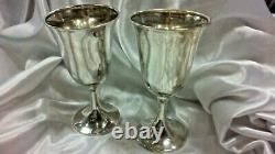 International Sterling Silver Goblet with Gold Wash P661