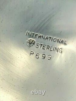 International Sterling Silver Mint Julep Cup, 3.75, banded edge #P699