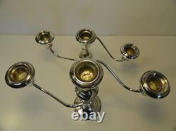 International Sterling Silver Pair of 3 Light Convertible Candelabras ZC1-28