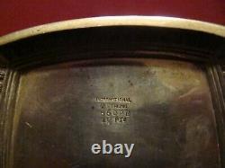 International Sterling Silver Pantheon Pitcher 33 0z. Monogram R On Front