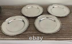 International Sterling Silver Plates Set/4 Bread Salad Hors d'oeuvre
