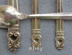 International Sterling Silver Royal Danish Flatware 4 Piece Place Settings