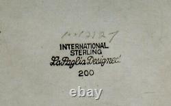 International Sterling Sugar Bowl c1950 LA PAGLIA