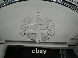 International Tray W316 Large & Heavy & Round American Sterling Silver