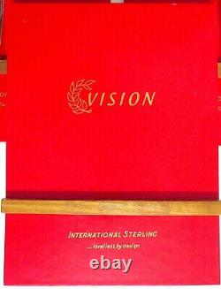 International Vision Sterling Silver Flatware 7-Pc Setting Service for 8, 56 pcs