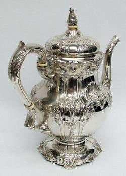 Magnificent Sterling Silver 1935 Richelieu International 9 Cup Coffee Pot #wc530