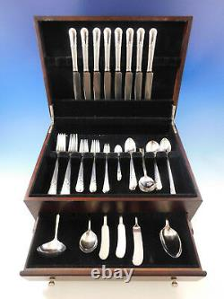 Orchid by International Sterling Silver Flatware Set for 8 Service 76 pcs Dinner