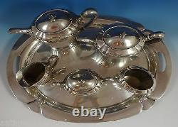 Orchid by International Sterling Silver Tea Set 6pc (#0881)
