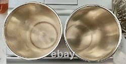 Pair Vintage Sterling Silver Mint Julep Cup International Sterling
