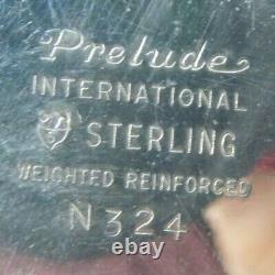 Pair of International PRELUDE Sterling Silver Convertible 3-Lite Candelabra