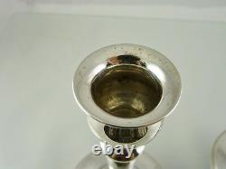 Plain Weighted Candle Holders 6 Sterling S 52 By International Silver Co