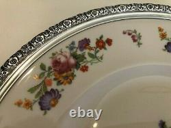 Prelude China Dinner Plate withSterling Silver Rim, International Silver, 11 3/8