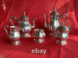 Prelude by International Sterling Silver Coffee & Tea Set Five 5 Pcs C366 80oz