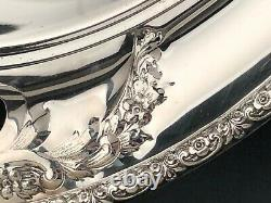 Prelude chased by International Sterling Silver, large Waiter with Handles 22.5