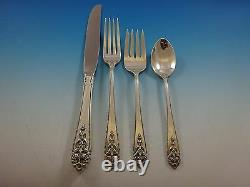 Queen's Lace by International Sterling Flatware Service For 8 Set 32 Pieces