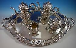 Richelieu by International Tea Set 4pc with Tray (#1631) Fabulous