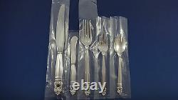 Royal Danish by International Sterling Silver Dinner Flatware For 8 Set 50 Pcs