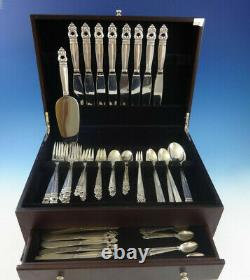 Royal Danish by International Sterling Silver Dinner Flatware For 8 Set 67 Pcs