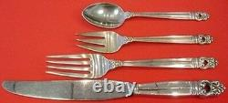 Royal Danish by International Sterling Silver Dinner Size Place Setting(s) 4pc